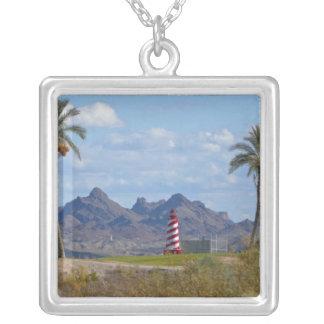 Stadt USA, Arizona, Lake Havasu. Leuchtturm als Versilberte Kette