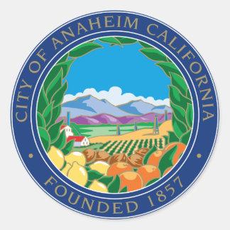 Stadt von Anaheim-Logo Runder Aufkleber