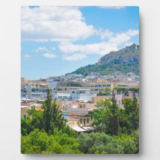 Stadt von Athen, Griechenland Fotoplatte