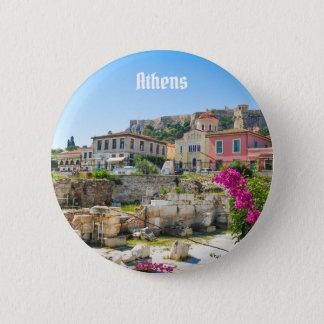 Stadt von Athen, Griechenland Runder Button 5,7 Cm
