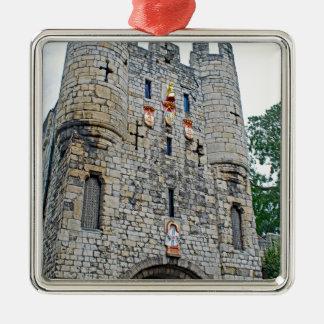 Stadt von Bar Yorks Micklegate Silbernes Ornament