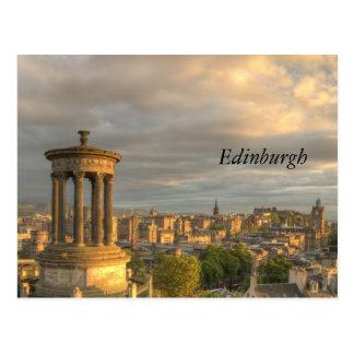 Stadt von Edinburgh-Postkarte Postkarte