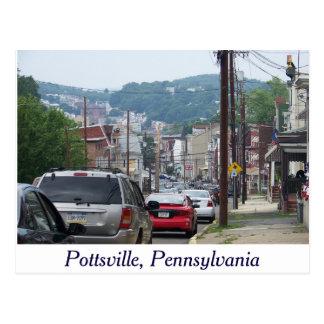 Stadt von Pottsville, Pennsylvania-Postkarte Postkarte