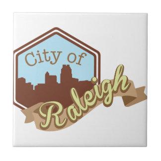 Stadt von Raleigh Fliese