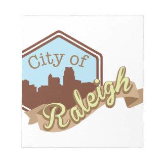 Stadt von Raleigh Notizblock