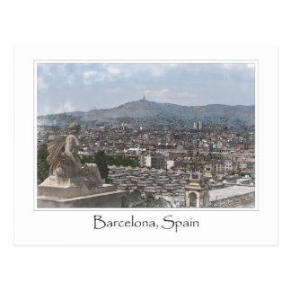 Stadt von Stadtbild Barcelonas Spanien Postkarte