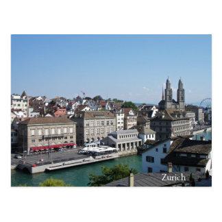 Stadt von Zürich Postkarte