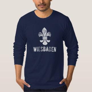 Stadt Wiesbaden, Deutschland. Lilien Logo. T-Shirt