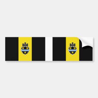 Stadt ZWEI von Pittsburgh-Flagge Autoaufkleber