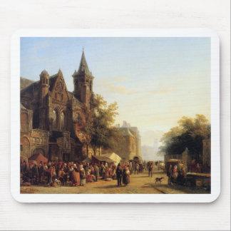 Stadtansicht mit Zahlen durch Cornelis-Springer Mousepad