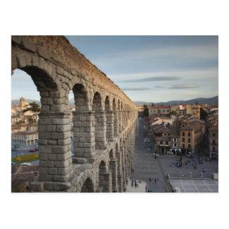 Stadtansicht über Piazza Azoguejo u. EL Acueducto Postkarte