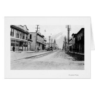 Stadtansicht von Skagway, Alaska-Fotografie Karte