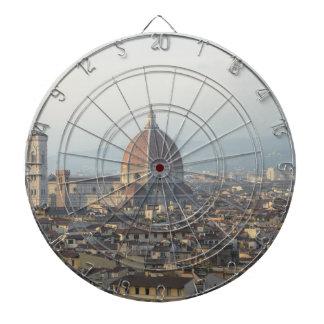 Stadtbild Florenz Italien Dartscheibe