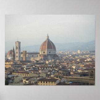 Stadtbild Florenz Italien Poster
