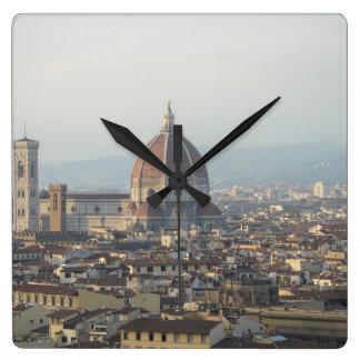 Stadtbild Florenz Italien Quadratische Wanduhr