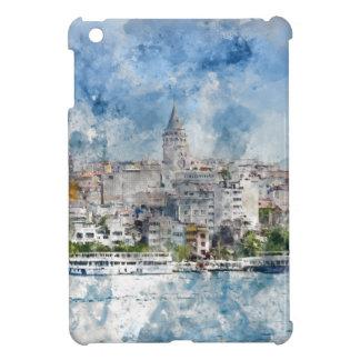 Stadtbild mit Galata Turm über dem goldenen Horn iPad Mini Hülle