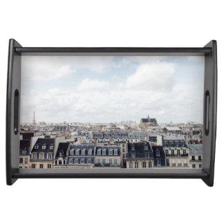 Stadtbild Paris Frankreich Tablett