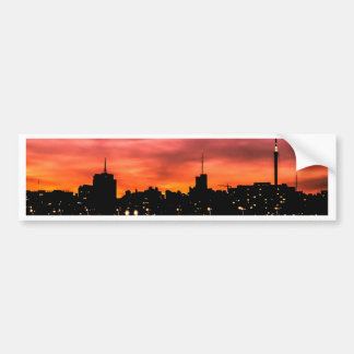 Stadtbild-Sonnenuntergang-Szene, Montevideo, Autoaufkleber