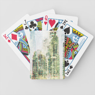 Stadtbild und Wald Bicycle Spielkarten