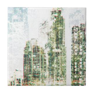 Stadtbild und Wald Fliese