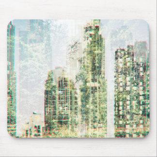 Stadtbild und Wald Mousepad