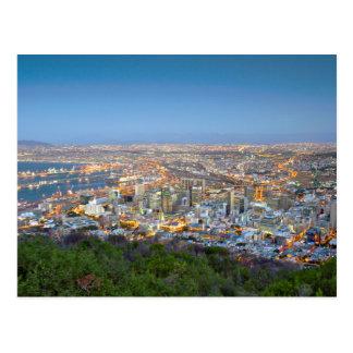 Stadtbild vom Gipfel des Signal-Hügels an der Postkarte
