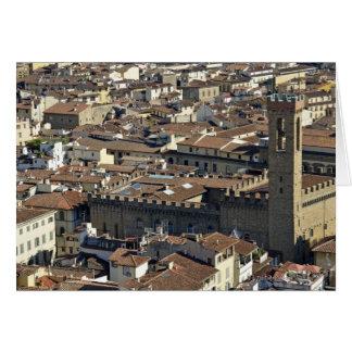 Stadtbild von der Spitze der Kuppel des Duomo Karte