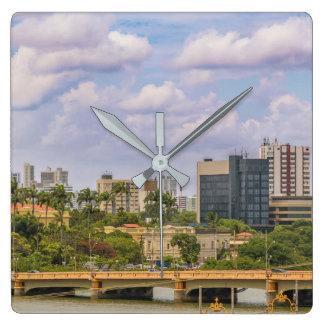 Stadtbild von Recife, Pernambuco Brasilien Quadratische Wanduhr