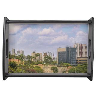 Stadtbild von Recife, Pernambuco Brasilien Serviertablett