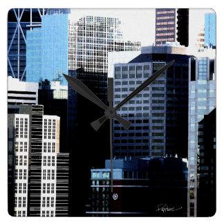 Stadtbild-Wanduhr, Quadrat, Entsprechung, Quadratische Wanduhr