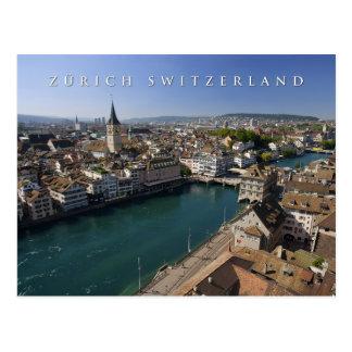 Stadtbild Zürichs die Schweiz Postkarte