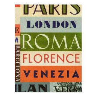 Städte von Europa - Postalisch Postkarte