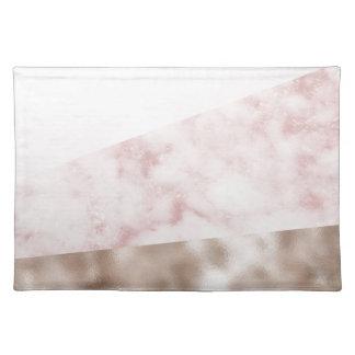 Städtisch erröten Marmorgeo Stofftischset