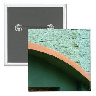 Städtische Architektur in der grünen Farbe Quadratischer Button 5,1 Cm