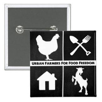 Städtische Bauern für Quadratischer Button 5,1 Cm