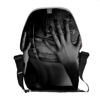 Städtische Bote-Tasche des Jeans-Mädchen-B/W Kuriertaschen