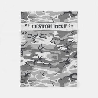 Städtische Camouflage mit kundenspezifischem Text Fleecedecke