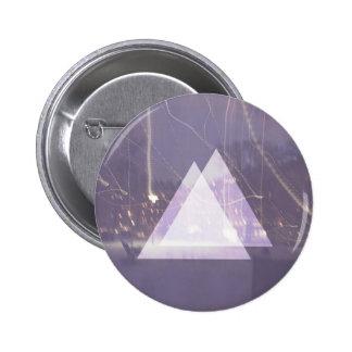 Städtische Dreieck-Grafik Runder Button 5,7 Cm