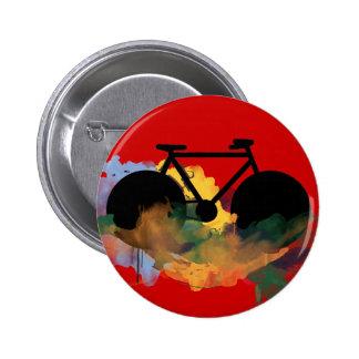 städtische Fahrradkunst Grafikillustration Runder Button 5,1 Cm