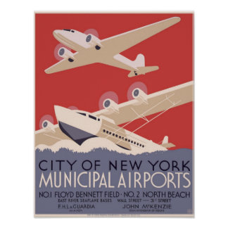 Städtische Flughäfen Stadt New York Nr. 1- Poster