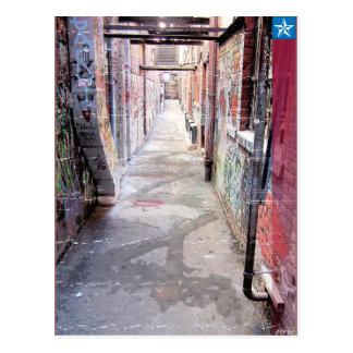 Städtische Gasse Postkarte