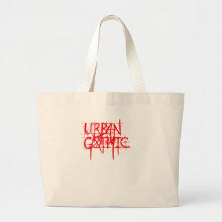 Städtische gotische riesige Taschen-Tasche Jumbo Stoffbeutel