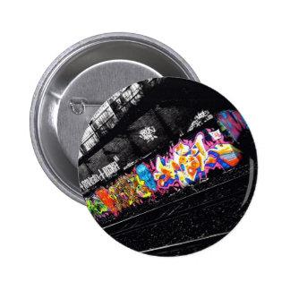 städtische Graffitistraßenkunst schwarz u. Weiß mi Runder Button 5,7 Cm