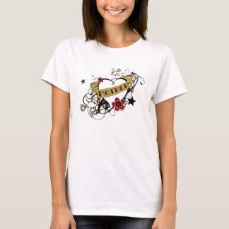 Städtische künstlerische Mutter-illustriertes T-Shirt