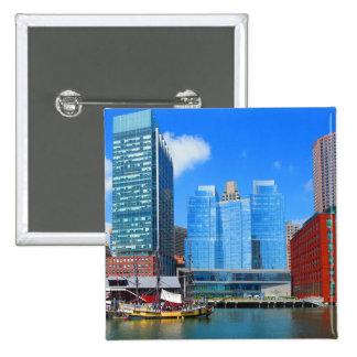Städtische Landscapen See-Ansichten von Quadratischer Button 5,1 Cm