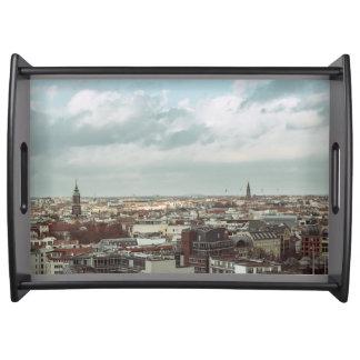 Städtische Landschaft Berlins Tablett