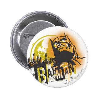Städtische Legenden Batmans - Batman-Schablone Runder Button 5,1 Cm