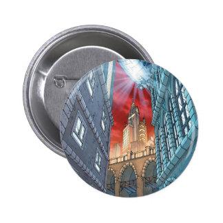 Städtische Legenden Batmans - BG 3 - Gotham City Runder Button 5,7 Cm