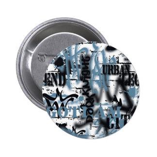 Städtische Legenden Batmans - Graffiti-Text-Blau Runder Button 5,7 Cm