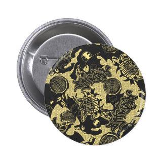 Städtische Legenden Batmans - Graffiti-Textilgelb Runder Button 5,1 Cm